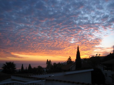 Evening Sky from the Roof Terrace