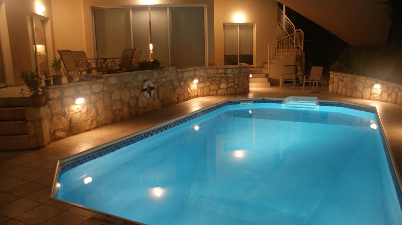 Designed bathrooms - The Pool At Night Villa Yiamas