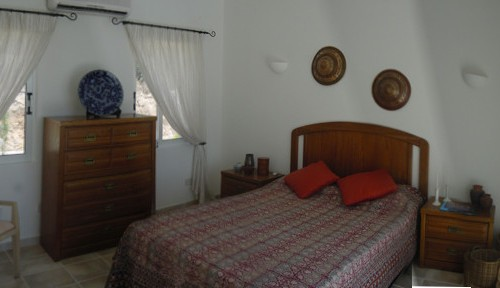 Wide Angle View of Double Bedroom